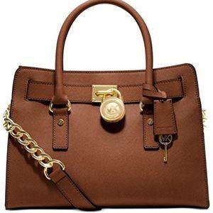 NWT Michael Kors Hamilton EW Luggage Leather Bag